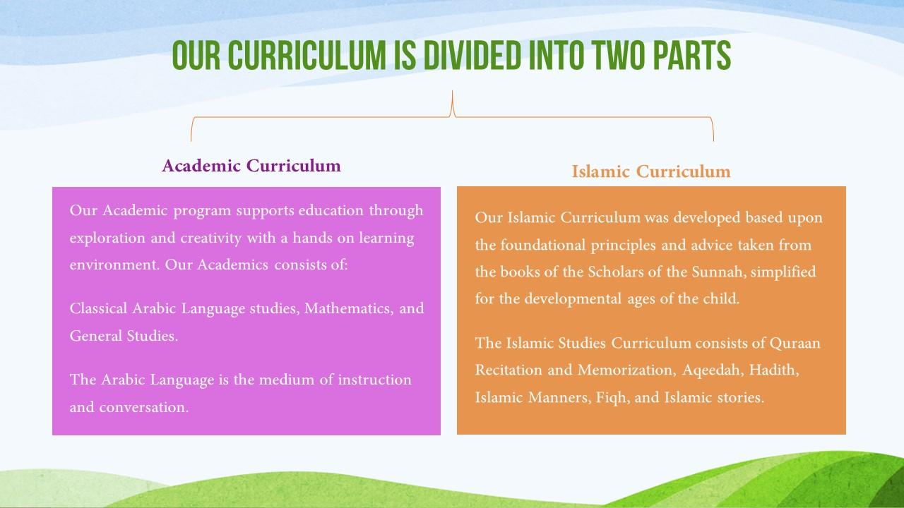 Curriculum » Al Ibaanah Arabic Centre